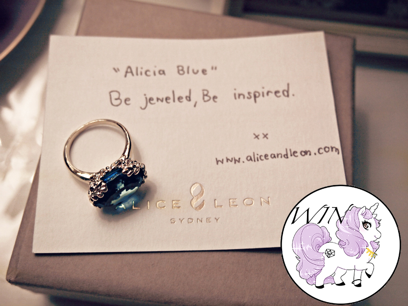 Alice and leon ring alicia win small giveaway