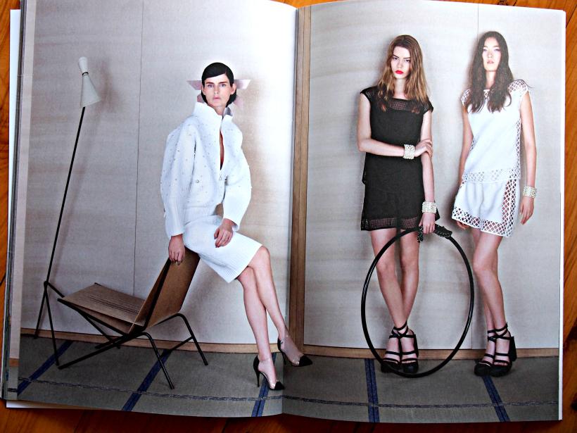 Chanel ss13 hoop monochrome