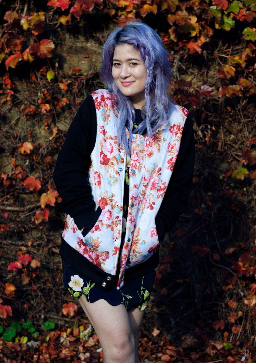 Floral bomber dress emily unicorn