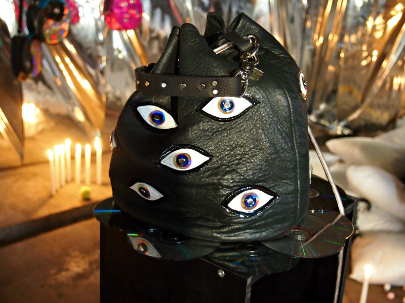 Blue blank nzfw underground show installation 2013 eye bag
