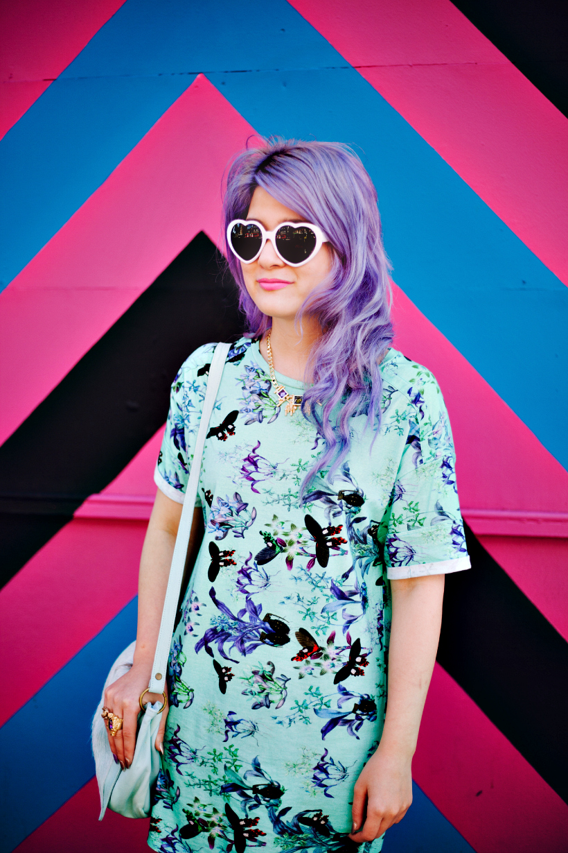 Emily blogger death moth lilac hair pastel