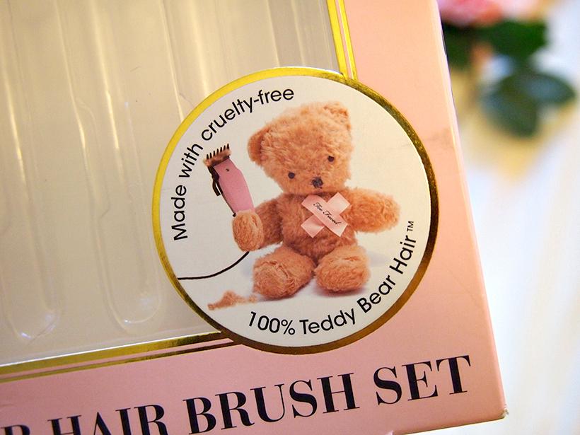 Too faced teddy bear brush set