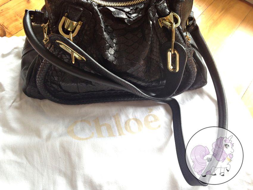 Chloé python paraty black customer service emi unicorn blog review experience