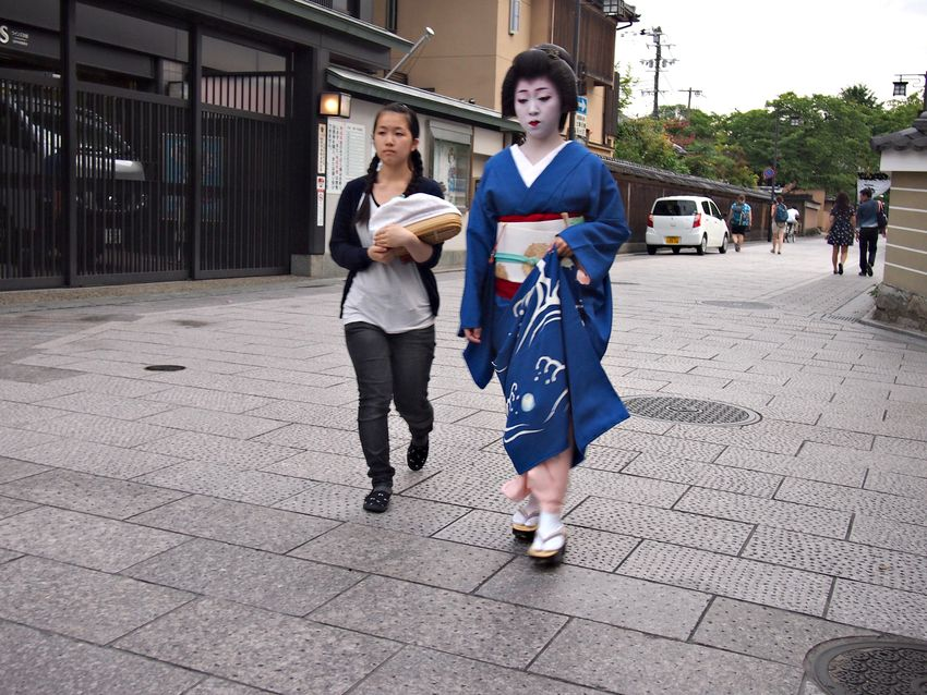 Kyoto gion district geisha
