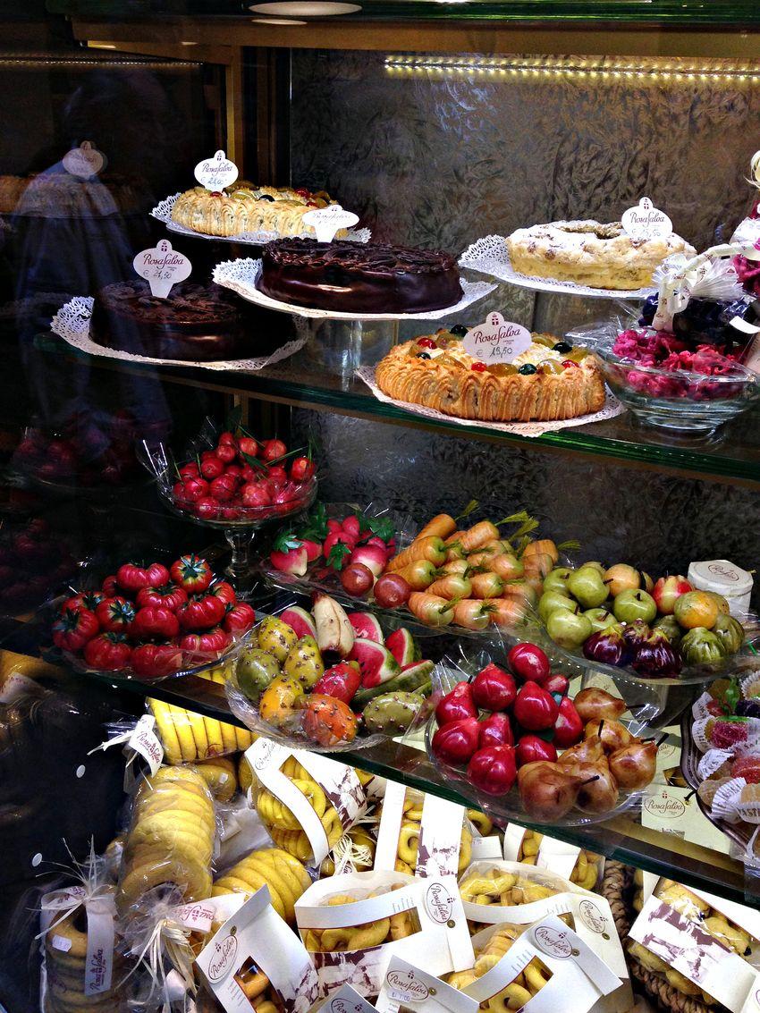 Venetian desert sweets marzipan fruit