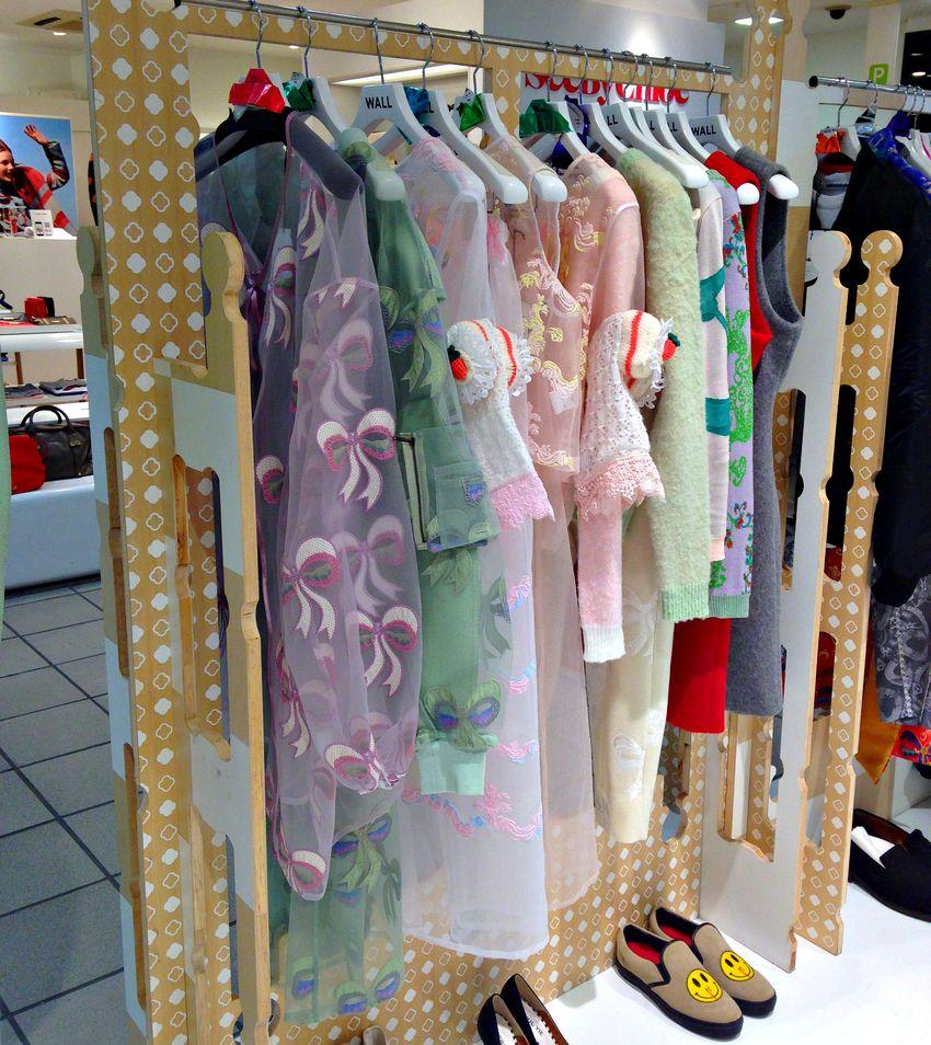 Wall harajuku shopping pastel fashion