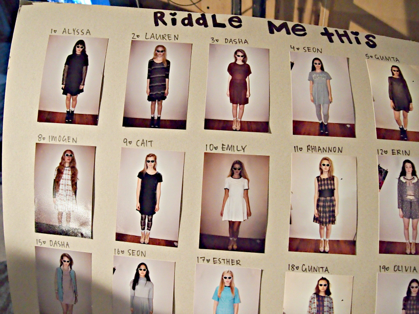 NZFW 2012: Riddle Me This AW '13
