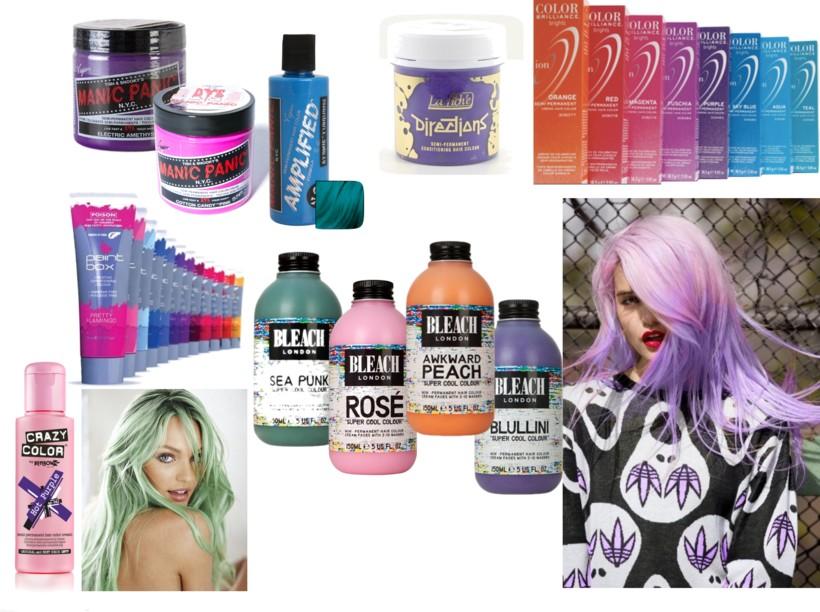 Pastel Hair Dyes