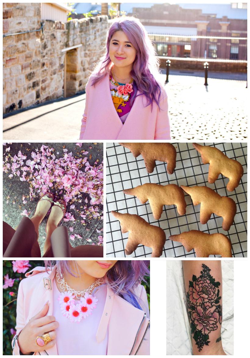 Unicorn cookies flower pink