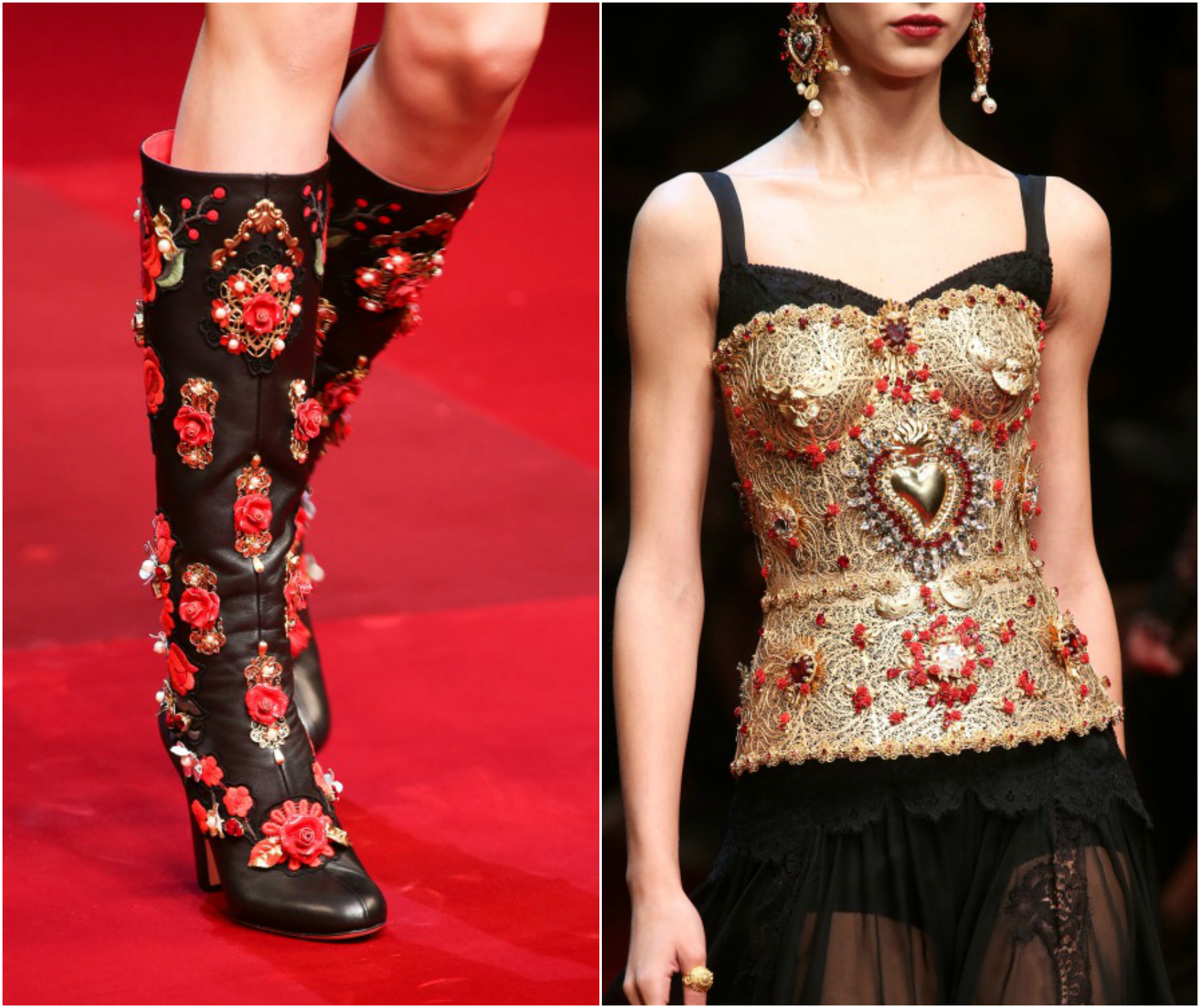 dolce gabbana thigh high boots ss15 sacred heart