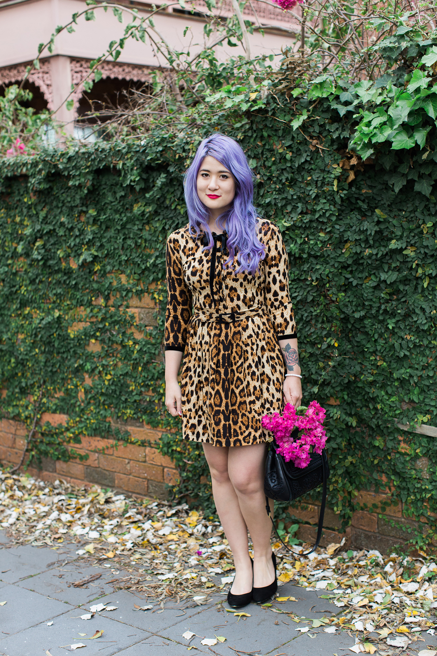 le chat wheels and dollbaby leopard dress