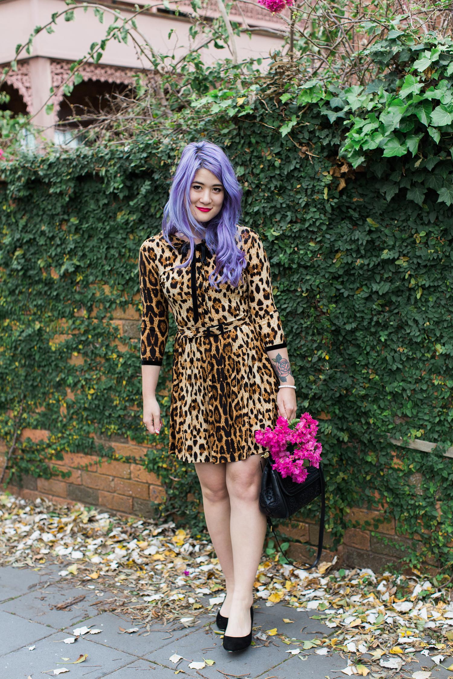 wheels & dollbaby leopard day dress emi unicorn