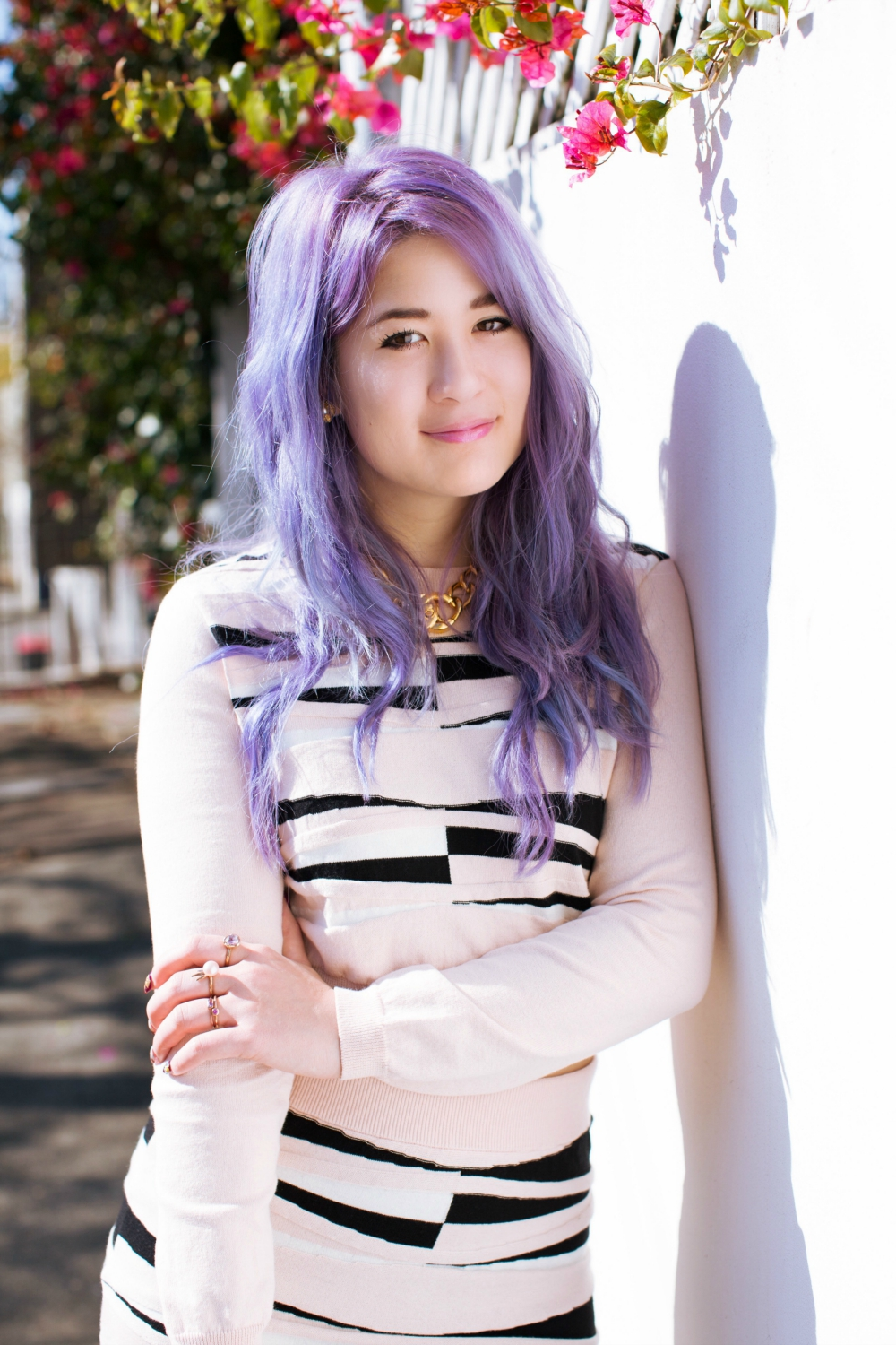 emiunicorn purple hair pastel outfit river island