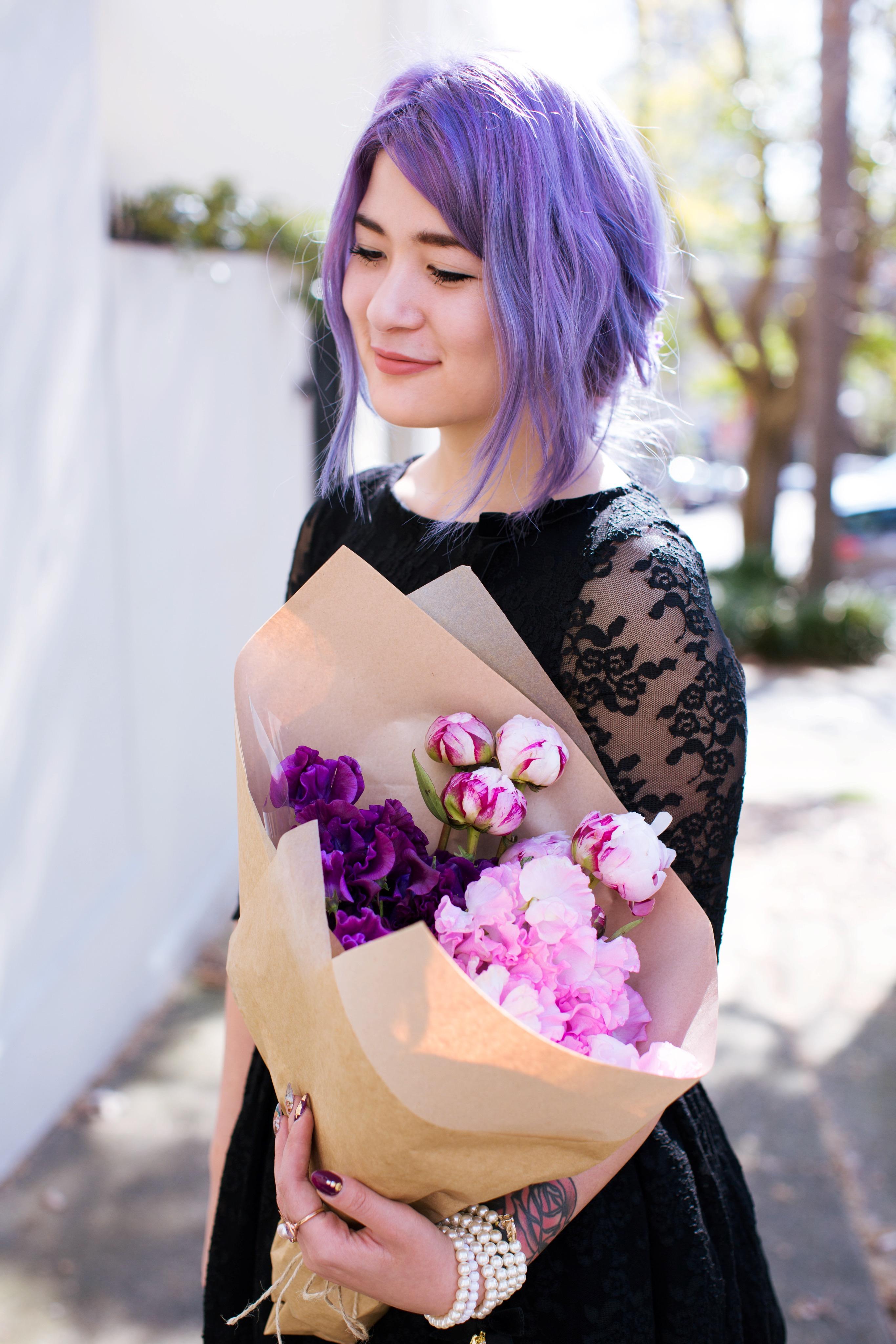emi unicorn wheels & dollbaby black lace dress