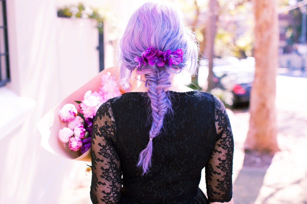 emiunicorn fishtail purple pastel hair