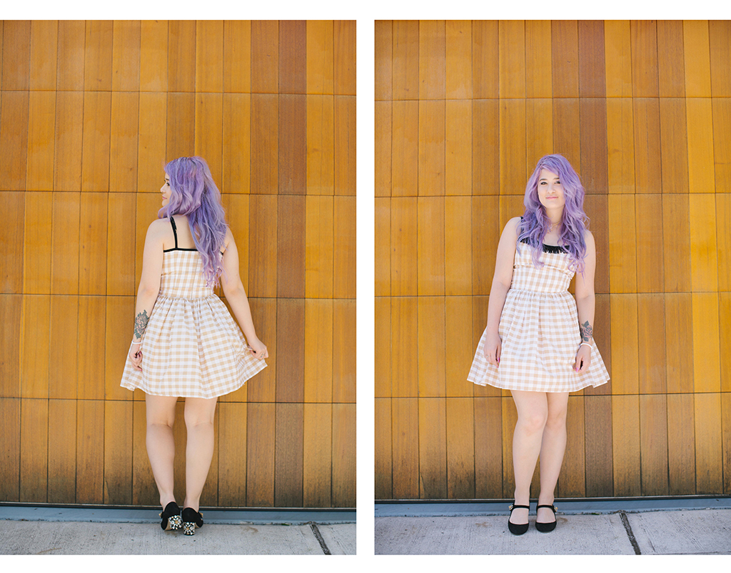Gingham emiunicorn.com Purple pastel hair 1