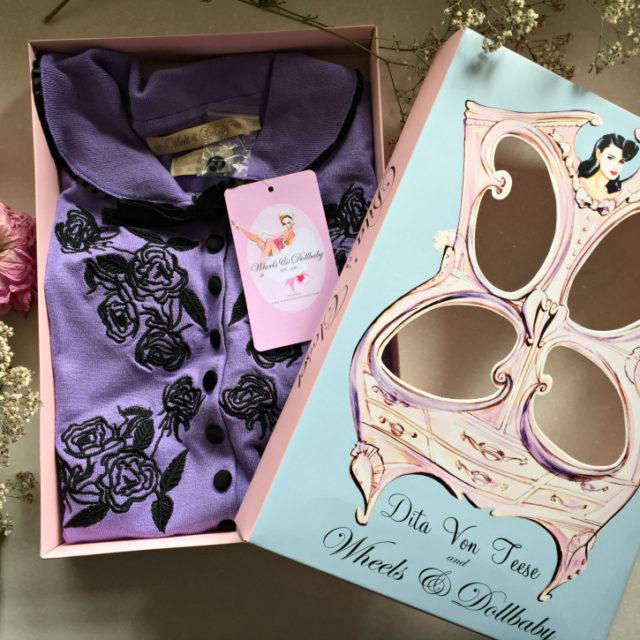Dita Von Teese for Wheels & Dollbaby Lilac Cardigan
