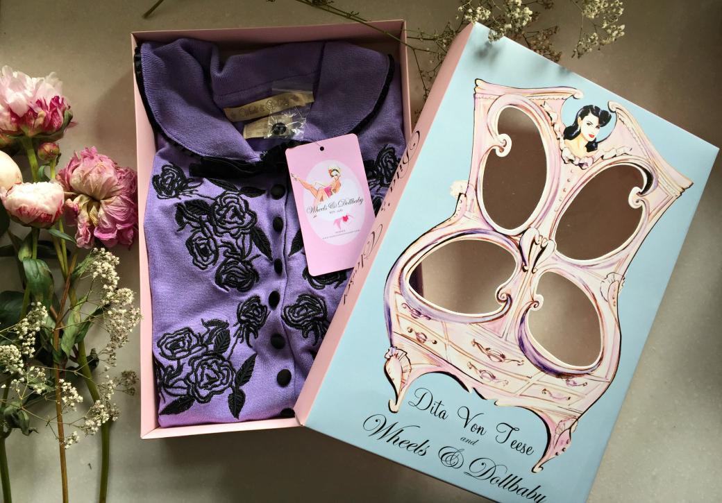 Wheels & Dollbaby lilac Dita cardigan details